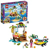 Lego 41376 Friends Mission Boat Playset with Olivia Mini Doll, Zobo The Robot and 4 Baby Turtles, Sea Life Rescue Series, Multicolour