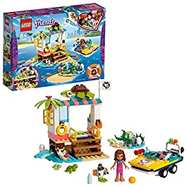 LEGO – Friends La missione di soccorso delle tartarughe, Playset con Olivia Mini-doll, Zobo the Rotot e 4 Baby Turtles…