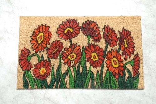 Homescapes Schmutzfangmatte Fußmatte Blumengarten 45 x 75 cm (Breite x Länge) Türmatte aus 100{72c1defb8e22d3d77c58d3e06793dc2f4488fab9f1cd7b3a70f6640c557b0005} Kokosfaser mit rutschfestem Gummirücken strapazierfähiger Fußabtreter