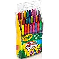 Crayola 24ct Mini Twistable - Ceras de colores con efectos especiales (24 unidades)