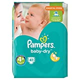 Pampers Baby-dry Couches 9-18 kg Taille 4+ 41 Pièces