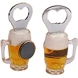 Imán de nevera de abridor de botella de cerveza