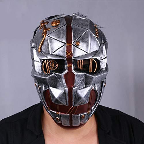 K-Flame Dishonored Maske für Halloween Cosplay Erwachsene Themenpartys Kostüm Prop Kostümzubehör Waffen Maskerade Masken (Dishonored Kostüm Party)