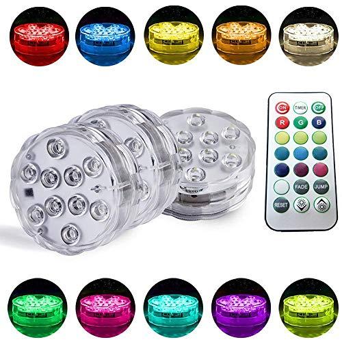 Unterwasserbeleuchtung, Mehrfarben-LED-Fernbedienung für wasserdichte Leuchten, Micro Landscape Light, Dimmbare Lichter für festliche Partydekoration, 4er-Pack -