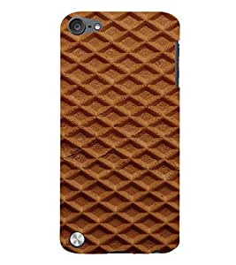 PrintVisa Waffle Pattern 3D Hard Polycarbonate Designer Back Case Cover for Apple iPod Touch 5
