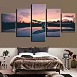 shiyusheng Wall Art Poster Picture Canvas 5 Panel Skateboard Sports   Modern Living Room Pittura Decorativa Modulare