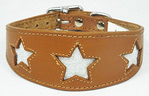 10-12-inch-cuero-italiano-greyhound-cuello-marron-con-brillantina-estrellas