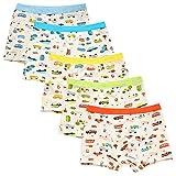 De feuilles 5er Pack Kinder Boxershorts Jungen 2-9 Jahre kleinkind Cartton Aufdruck Kids Unterhosen Underwear