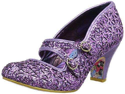 Irregular Choice Damen Dazzle Dance Mary Jane Halbschuhe, Violett (Purple B), 42 EU - Mary Purple Schuhe Jane