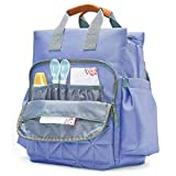 PACKNBUY Diaper Bag Backpack for Travel Baby Mother Purple