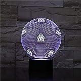 3D Optique Illusion Nuit Light Marseille Smart 7 Couleurs LED Touch Lampe De Table pour Enfants Anniversaire De Noël Saint Valentin Cadeau...