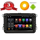 Android 8.1 Autoradio DVD CD Multimedia Player stereo für VW mit GPS Navigation 8 Zoll Bildschirm Bluetooth WLAN Lenkradsteurung USB AV-OUT