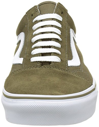 Vans Herren Ua Old Skool Sneakers Grün (Suede/canvas Dark Olive/true White)