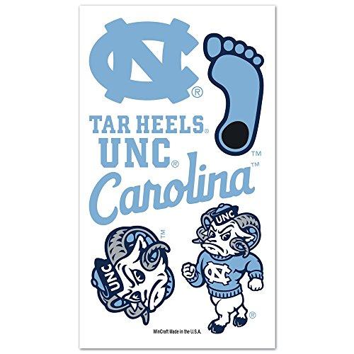 Wincraft North Carolina Tar Heels temporäre Tattoos - North Carolina Tattoos