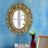 TIED RIBBONS Antique Vintage Style Home Decorative Wall Mirror Glass For Home Décor Living Room Bathroom Bedroom With High Quality Plastic Frame