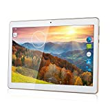 SZWZRY 10 inch Tablet Android 7.0 Octa Core Tablet with 4GB RAM 64GB ROM Tablet PC Built in WiFi Bluetooth and Camera GPS Two Sim Card Slots Unlocked 3G Phone Call Phablet (White)