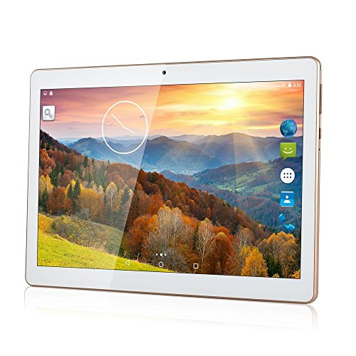 tablet octa core 4gb ram SZWZRY 10 inch Tablet Android 7.0 Octa Core Tablet with 4GB RAM 64GB ROM Tablet PC Built in WiFi Bluetooth and Camera GPS Two Sim Card Slots Unlocked 3G Phone Call Phablet (White)