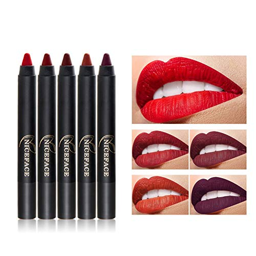 NOTE Matte Lipstick Pencil Sharpening Lip Crayon Women Cosmetic Long-lasting Makeup (Matte Crayon Lip)