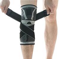 Kniebandage, u-pick Kompressions Kniebandage Sleeve mit rutschfesten Einstellbare Druck-Riemen, Knie Protector... preisvergleich bei billige-tabletten.eu