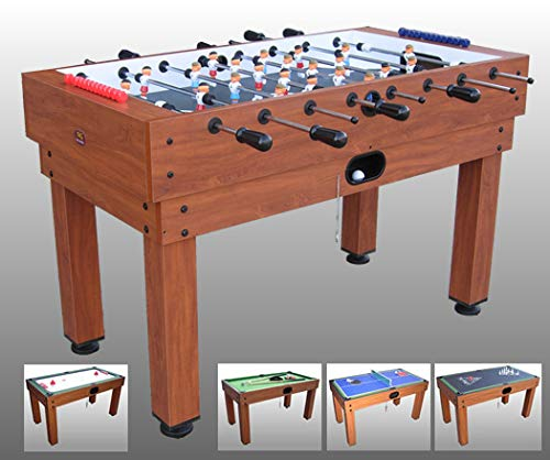 Tavolo multigioco GIOVE 10 1 Biliardo Ping Pong Air Hockey Calcio Balilla Bowling Scacchi Backgaon Shuffle Board Dama Dadi