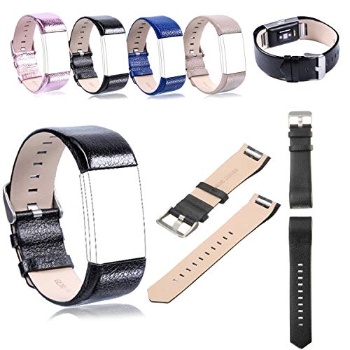 K8U156 @FATO Ersatz-Sport Soft-Durable Lederarmband-Gurt-Band-Uhr-Band für Fitbit Charge 2
