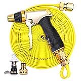 GuanJu Inicio Al Aire Libre de Alta Presión Pistola de Agua Manguera Conector Conjunto de Irrigación de Jardín y Limpieza de Herramientas de Lavado de Automóviles (Tamaño : 10m)