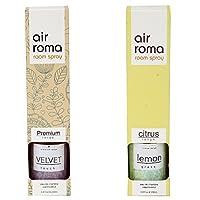 AirRoma Combo of Velvet Fragrance Air Freshener Spray 200 ml & Lemon Grass Fragrance Air Freshener Spray 200 ml