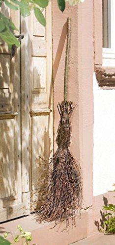 DEKOBESEN REISIGBESEN EINGANGSDEKO HEXENBESEN BIRKENREISIG BESEN ca. 125 cm