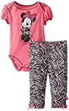 Disney bébé fille nouveau-né Minnie Mouse Body et pantalon Motif zébré, Rose,...