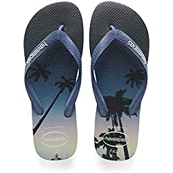 Havaianas Hype, Chanclas para Hombre, Multicolor (Navy Blue/Blue Star/White), 43/44 EU (41/42 Brazilian)