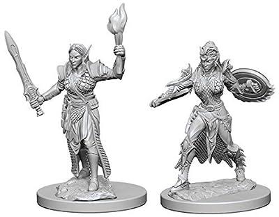 Pathfinder: Deep Cuts Unpainted Miniatures: Elf Female Fighter