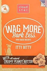 Cloud étoile Wag Plus écorce moins four cuits Itty Bitty Peanut Butter friandises pour chien, 8g