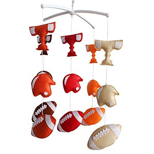[Rugby und Champion Trophy] Kreative hängende Spielwaren, Wind-up Musical Box