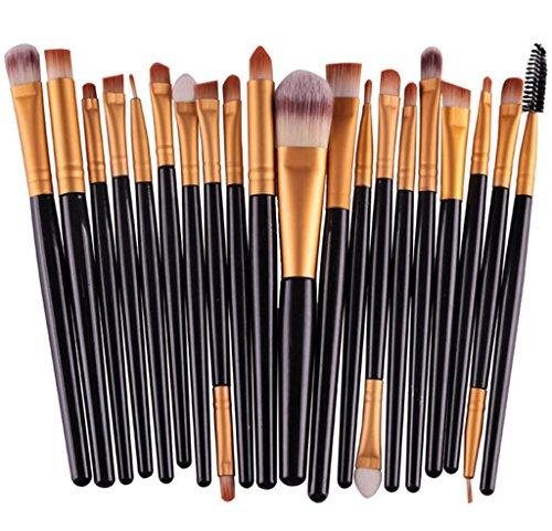 Bigood Kit de Pinceau Maquillage Professionnel 20Pcs Brosses Cosmétique Beauté Outils