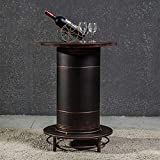 FANG Multifunktionale Schmiedeeisen Lagerung Tisch Und Stuhl-Set Kombination Kreativ Leder Vintage Öl Trommel Hocker,Table