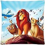 El Rey León diseño de la funda de almohada de nueva para vacaciones regalo cuadrado con cremallera funda de almohada