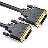 deleyCON 3m DVI zu DVI Kabel 24+1 - DVI-D Dual Link - 1080p / Full-HD / 3D Ready - DVI auf DVI Adapterkabel vergoldete Kontakte - Schwarz