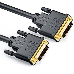 deleyCON 2m DVI zu DVI Kabel DUAL LINK DVI-D 24+1 [ vergoldete Kontakte ]