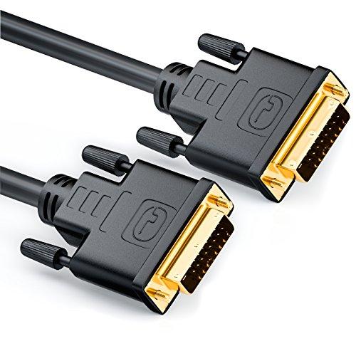 deleyCON MK-MK30 DVI zu DVI Kabel 24+1 - DVI-D Dual Link 1080p/Full-HD/3D Ready, DVI auf DVI Adapterkabel vergoldete Kontakte, 3m, Schwarz