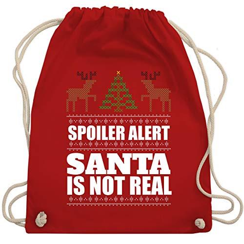 Weihnachten & Silvester - Spoiler alter! Santa is not real - Unisize - Rot - WM110 - Turnbeutel & Gym Bag -