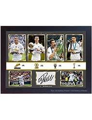 Nuevo Cristiano Ronaldo Real Madrid firmado autógrafos impresión fotográfica foto enmarcada