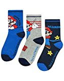 Unbekannt Super Mario Assorted 3 Pack Boy's Socks (6-8.5)
