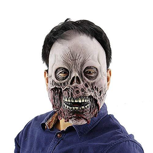 Halloween Masken Narbe Latexmaske Scary Horror Demon Parasit Zombie Vampir Parasit Vampir Terror Thriller Monster