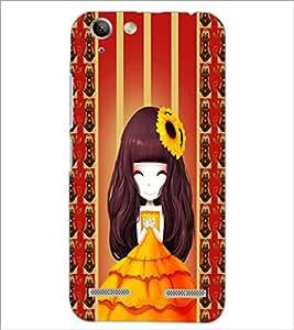 PrintDhaba Cute Girl D-2683 Back Case Cover for LENOVO A6020a46 (Multi-Coloured)