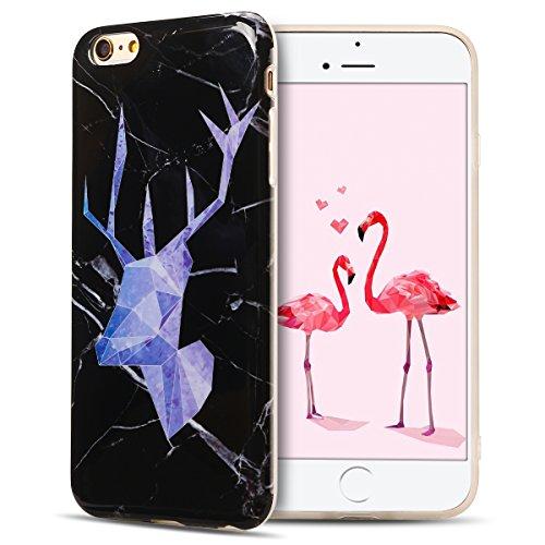 IPhone 6 Plus Hülle, iPhone 6S Plus Case, Apple 6 Plus Handyhülle, Spiritsun Weiche TPU Hülle für Weihnachten Kawaii Cover Hochwertige Funkelnde Luminoso Hülle Elegante Flessibile Liscio Flamingo Protezione Hülle für Morbido Silikon Custodia für iPhone 6 Plus / 6S Plus(5.5 Zoll) Cover-Cervo getestet 2 (Cervo-leder)
