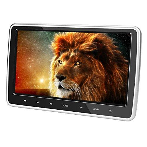 cherryou Digital-LCD-Bildschirm mit Touchscreen, 25,7cm HD 1024* 600HDMI USB SD IR/FM Ultra Dünn, als Monitor für die Kopfstütze im Auto geeignet.