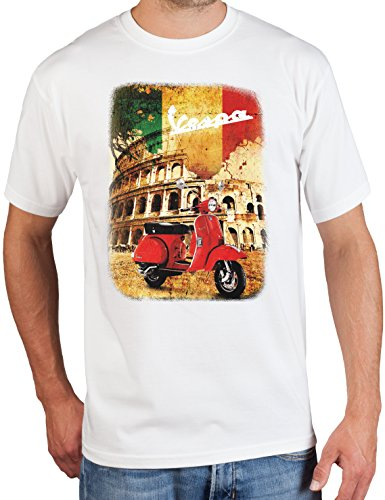 adrotes Vespa Roadtrip - Vintage T-Shirt - Gr. S-5XL White