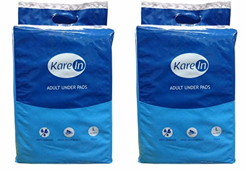 Kare In Adult Underpads Large 10 Count 60-90cm-Pack of 2 (20 Counts)