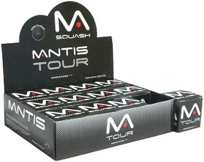 Mantis Ultra Premium Tour doble goma amarillo pelotas de squash