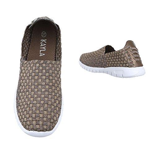 Ital-Design , chaussons d'intérieur femme Beige DSC002-7